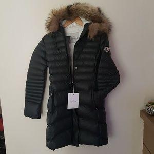 Moncler Women Long Coat Jacket Green